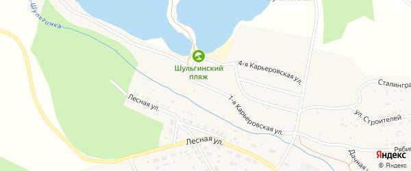 1-я Карьеровская улица на карте села Шульгинки с номерами домов