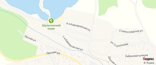 3-я Карьеровская улица на карте села Шульгинки с номерами домов