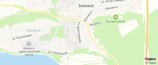 Улица Фронтовиков на карте Борового поселка с номерами домов