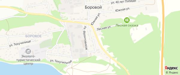 Комбинатовская улица на карте Борового поселка с номерами домов