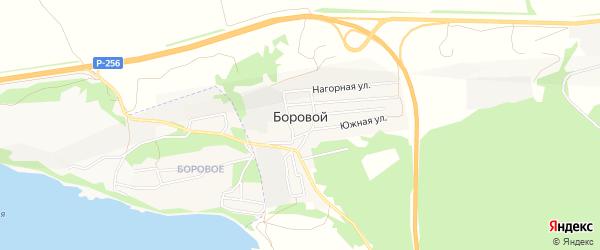 Карта Борового поселка в Алтайском крае с улицами и номерами домов