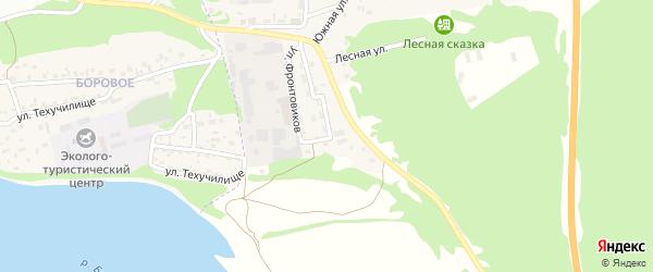 Пионерская улица на карте Борового поселка с номерами домов
