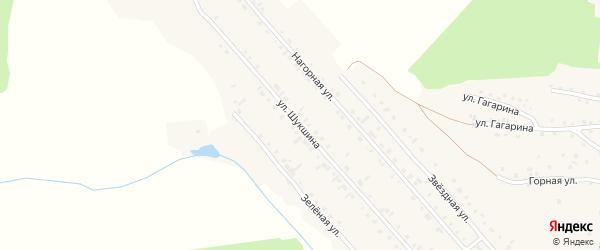 Улица В.М.Шукшина на карте Алтайского села с номерами домов