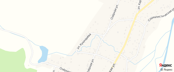 Улица Н.Н.Кушнарева на карте Алтайского села с номерами домов