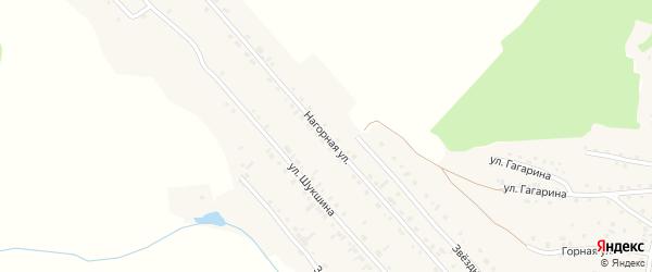 Нагорная улица на карте Алтайского села с номерами домов