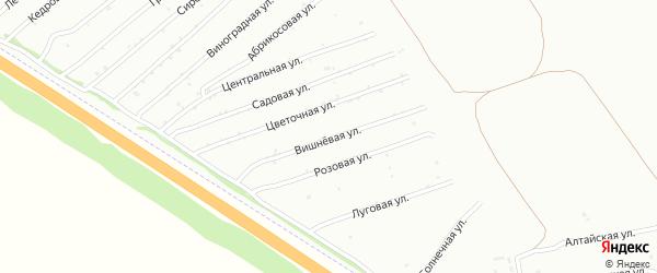 Вишнёвая улица на карте садового некоммерческого товарищества Монтажника с номерами домов