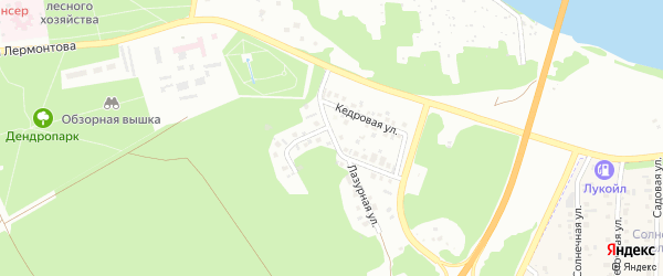 Улица Лесная поляна на карте Бийска с номерами домов
