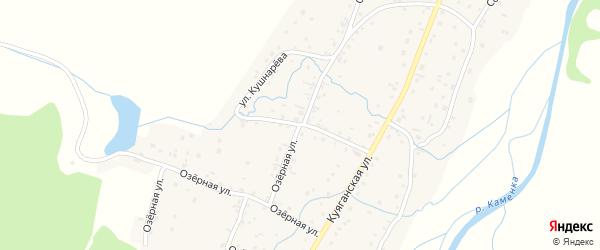 Озерная улица на карте Алтайского села с номерами домов