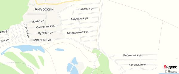 Карта территории сдт Водстроя в Алтайском крае с улицами и номерами домов