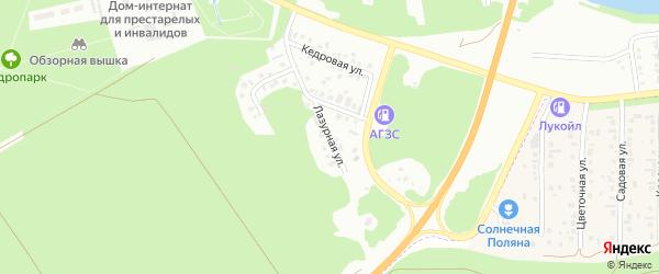 Лазурная улица на карте Бийска с номерами домов