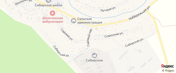 Садовый переулок на карте села Шульгинки с номерами домов