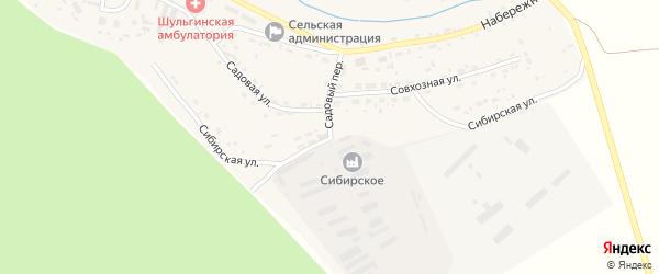 Сибирская улица на карте села Шульгинки с номерами домов