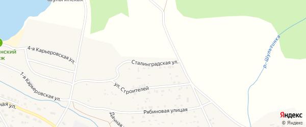 Сталинградская улица на карте села Шульгинки с номерами домов