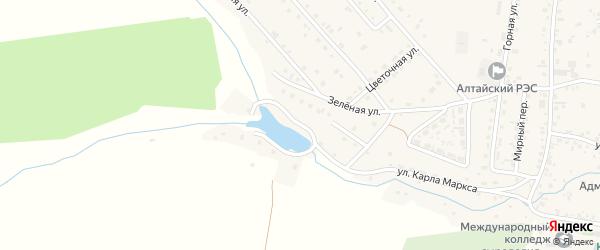 Пионерская улица на карте Алтайского села с номерами домов