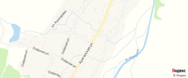 Куяганская улица на карте Алтайского села с номерами домов