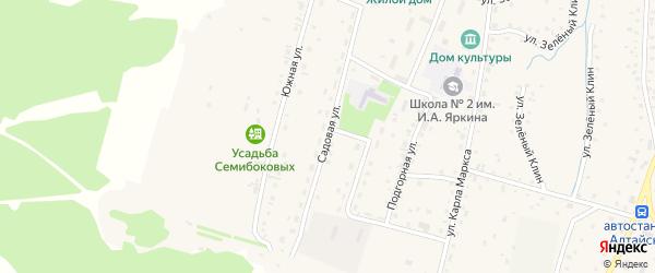 Садовая улица на карте Алтайского села с номерами домов