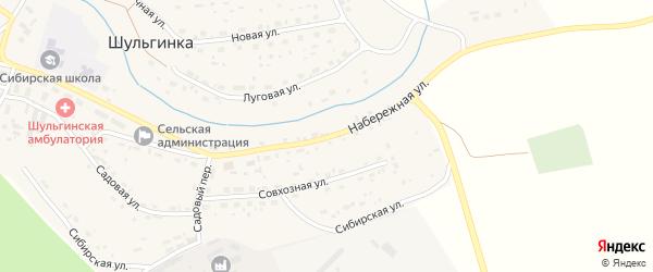 Набережная улица на карте села Шульгинки с номерами домов