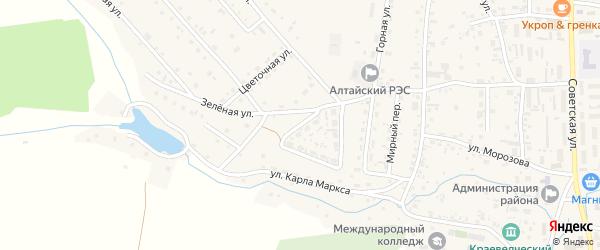 Солнечная улица на карте Алтайского села с номерами домов