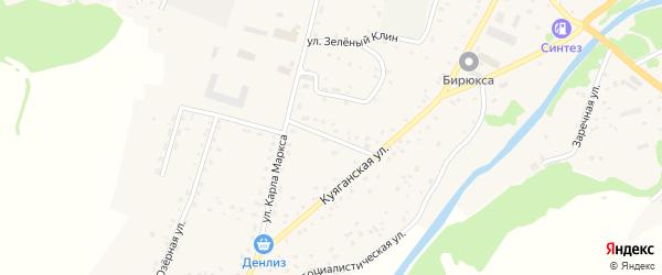 Школьный переулок на карте Алтайского села с номерами домов