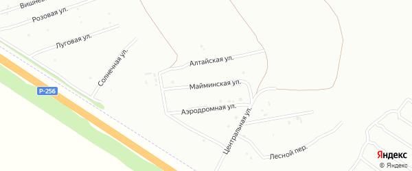 Майминская улица на карте Бийска с номерами домов