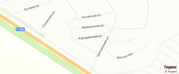 Аэродромная улица на карте Бийска с номерами домов