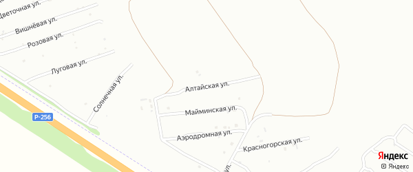 Алтайская улица на карте Бийска с номерами домов
