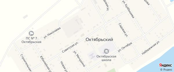 Советская улица на карте Октябрьского поселка с номерами домов