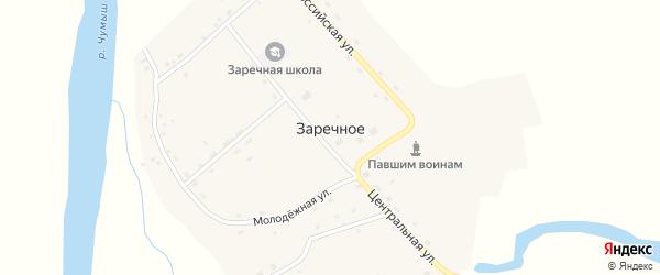 Молодежная улица на карте Заречного села с номерами домов