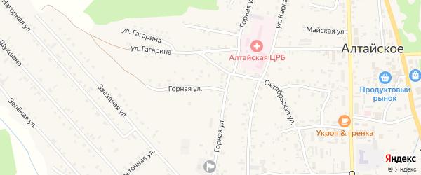 Горная улица на карте Алтайского села с номерами домов