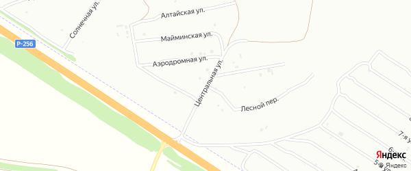 Центральная улица на карте садового некоммерческого товарищества Рассвета с номерами домов