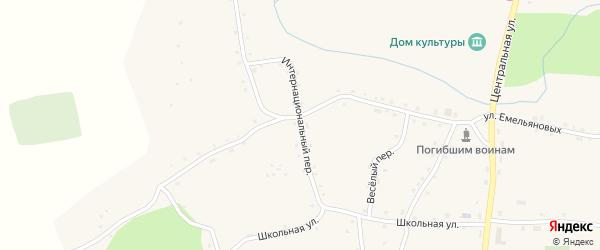 Интернациональный переулок на карте села Красного Яра с номерами домов