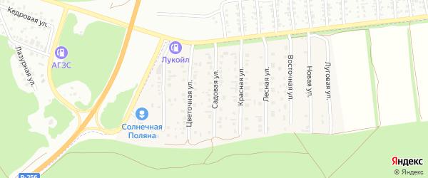 Садовая улица на карте поселка Семеновода с номерами домов