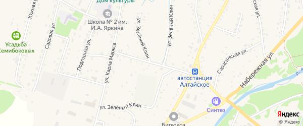 Мичуринский переулок на карте Алтайского села с номерами домов