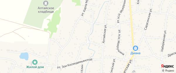 Механизаторская улица на карте Алтайского села с номерами домов