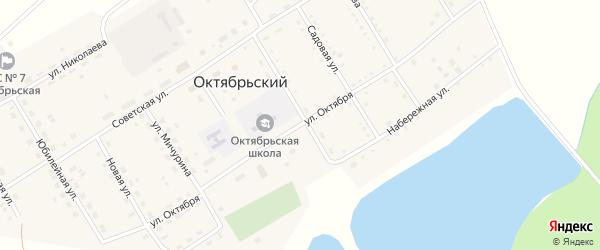 Улица Октября на карте Октябрьского поселка с номерами домов