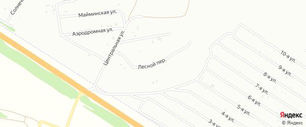 Лесной переулок на карте Бийска с номерами домов