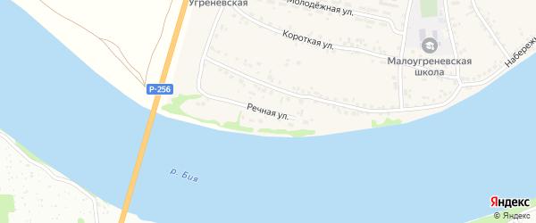 Речная улица на карте территории сдт Молочника с номерами домов