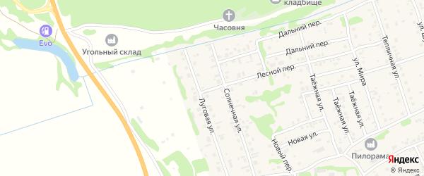 Лесной переулок на карте садового некоммерческого товарищества Садовода с номерами домов