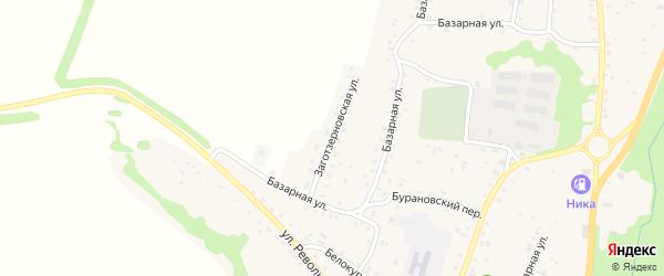 Заготзерновская улица на карте Алтайского села с номерами домов