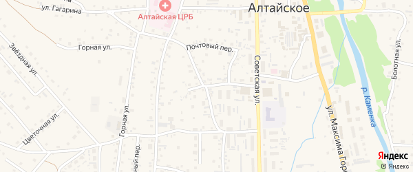 Улица М.Светоносова на карте Алтайского села с номерами домов