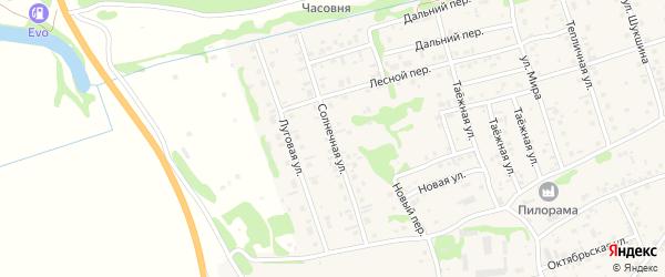 Солнечная улица на карте села Малоугренево с номерами домов