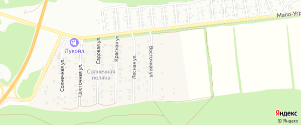 Восточная улица на карте поселка Семеновода с номерами домов