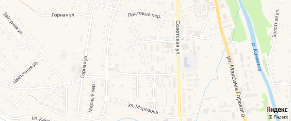 Октябрьская улица на карте Алтайского села с номерами домов