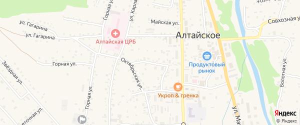 Почтовый переулок на карте Алтайского села с номерами домов