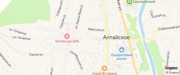 Партизанская улица на карте Алтайского села с номерами домов