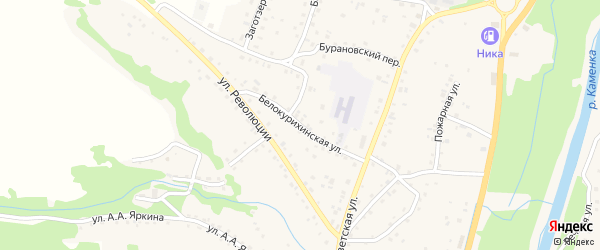 Белокурихинская улица на карте Алтайского села с номерами домов