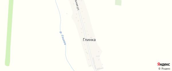 Центральная улица на карте поселка Глинки с номерами домов