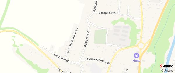 Базарная улица на карте Алтайского села с номерами домов