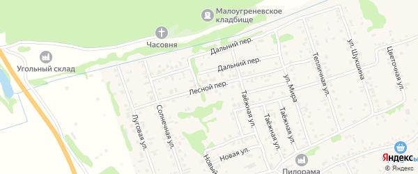 Лесной переулок на карте села Малоугренево с номерами домов