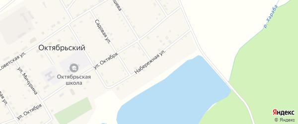 Набережная улица на карте Октябрьского поселка с номерами домов